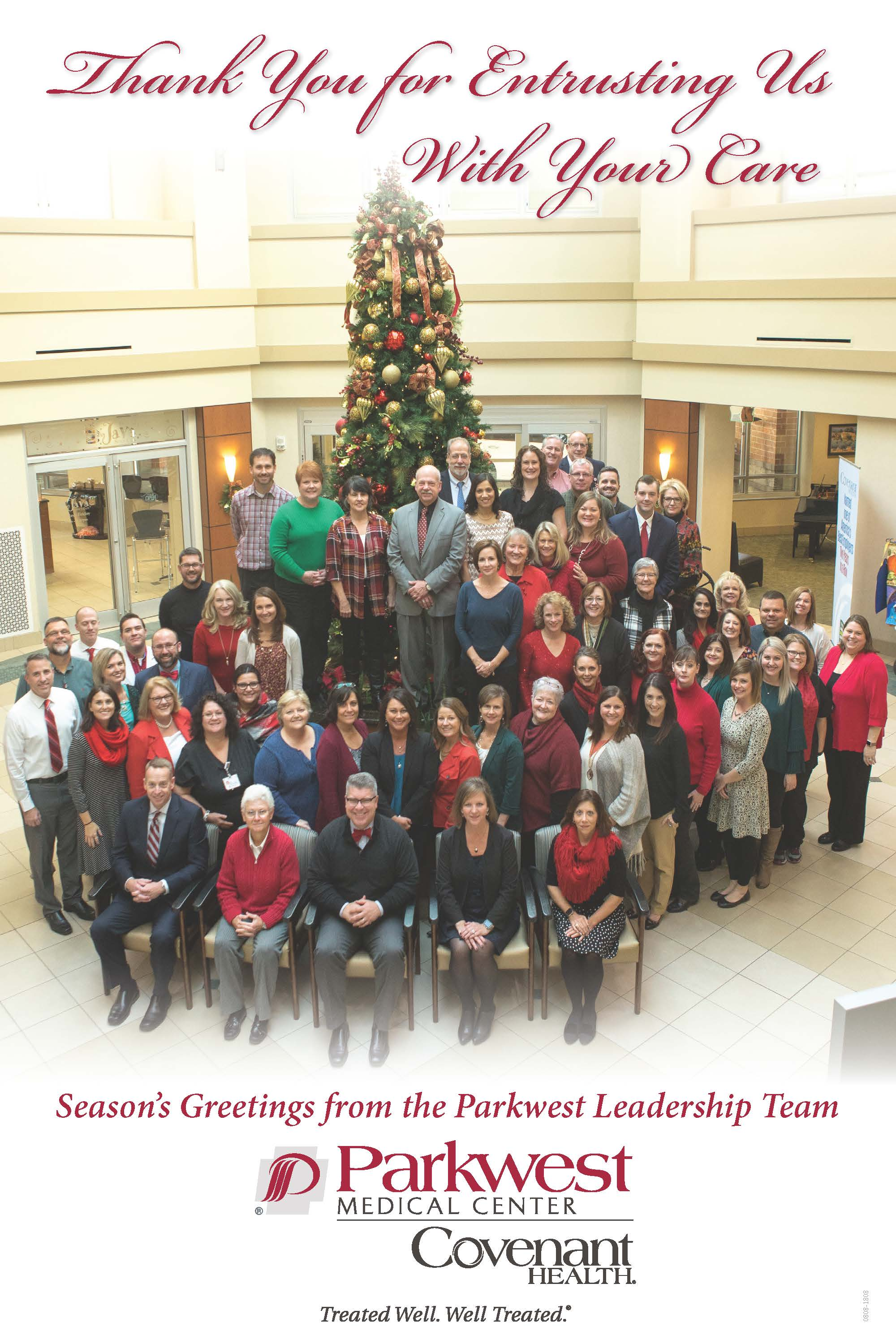 Holiday letter to the community from Parkwest CAO Neil Heatherly