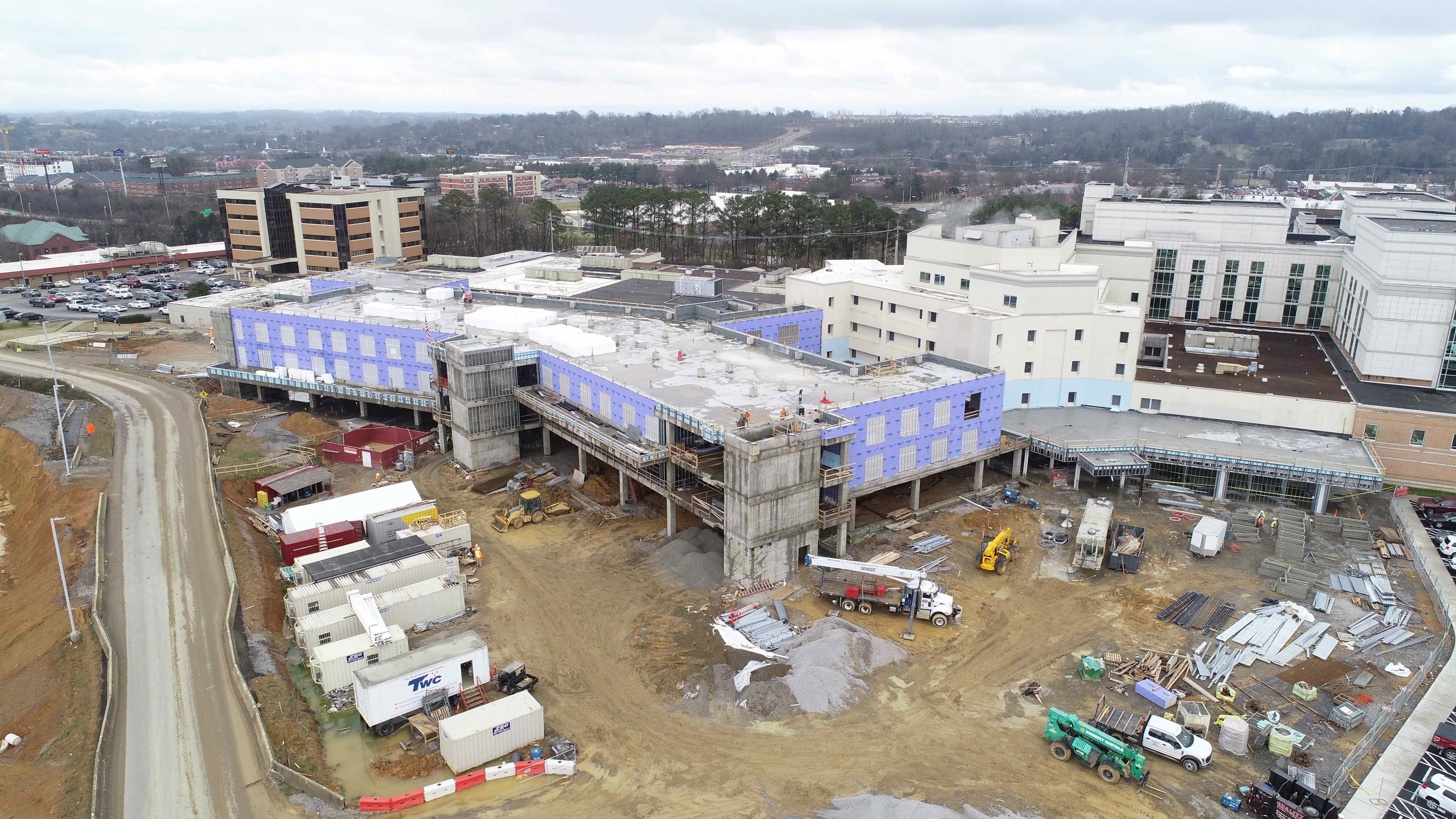 Jan. 18 Construction site aerial.