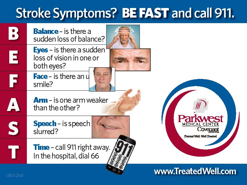 BEFAST Graphic showing the signs of stroke.