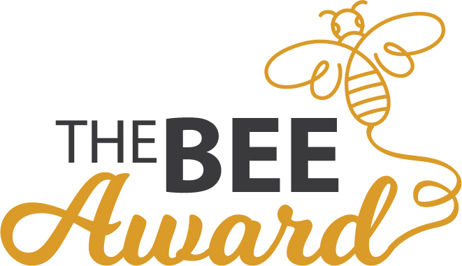 BEE Award logo with text and Bee