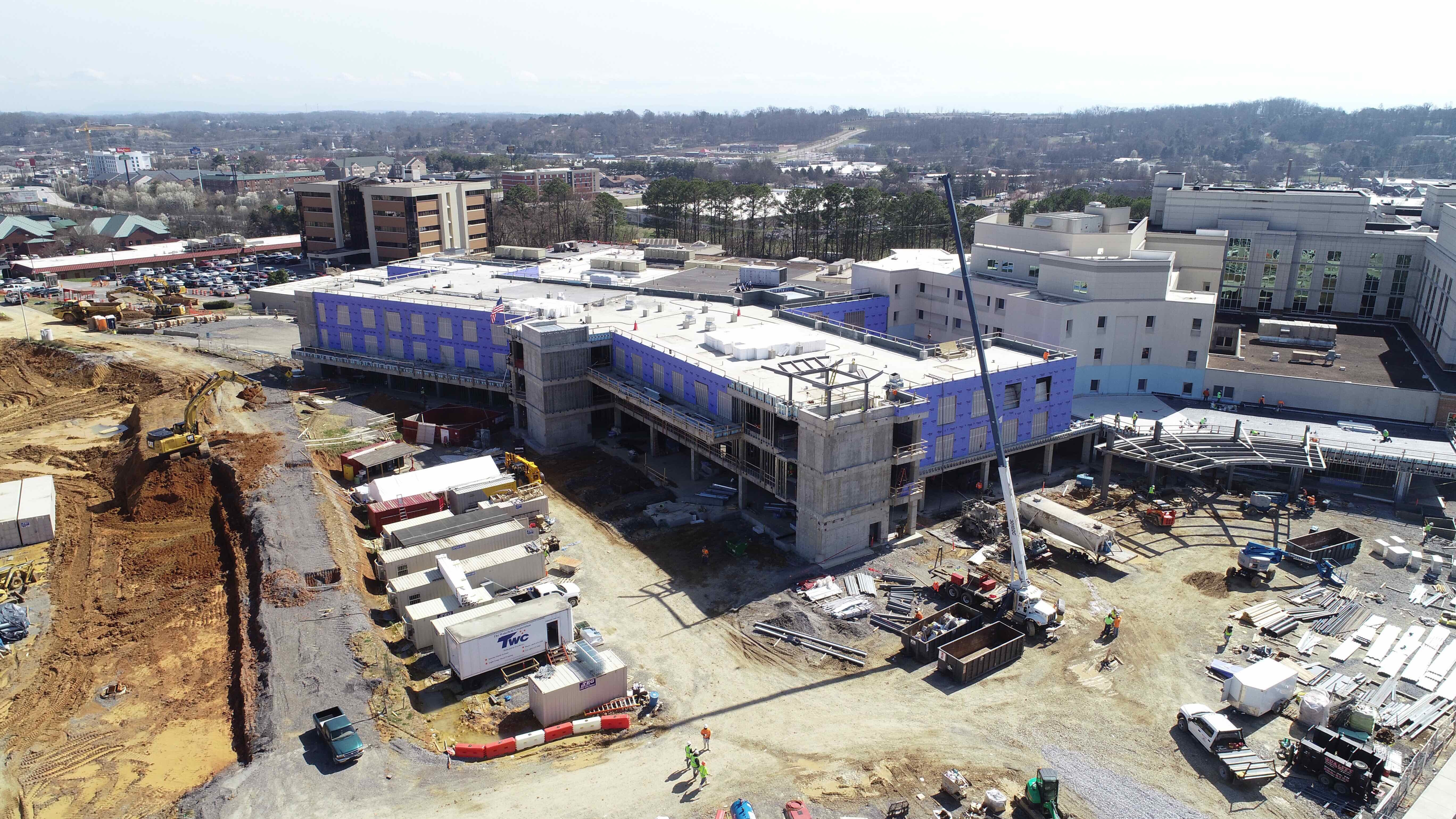 Taken Feb 27 of new tower construction site at Parkwest Medical Center.