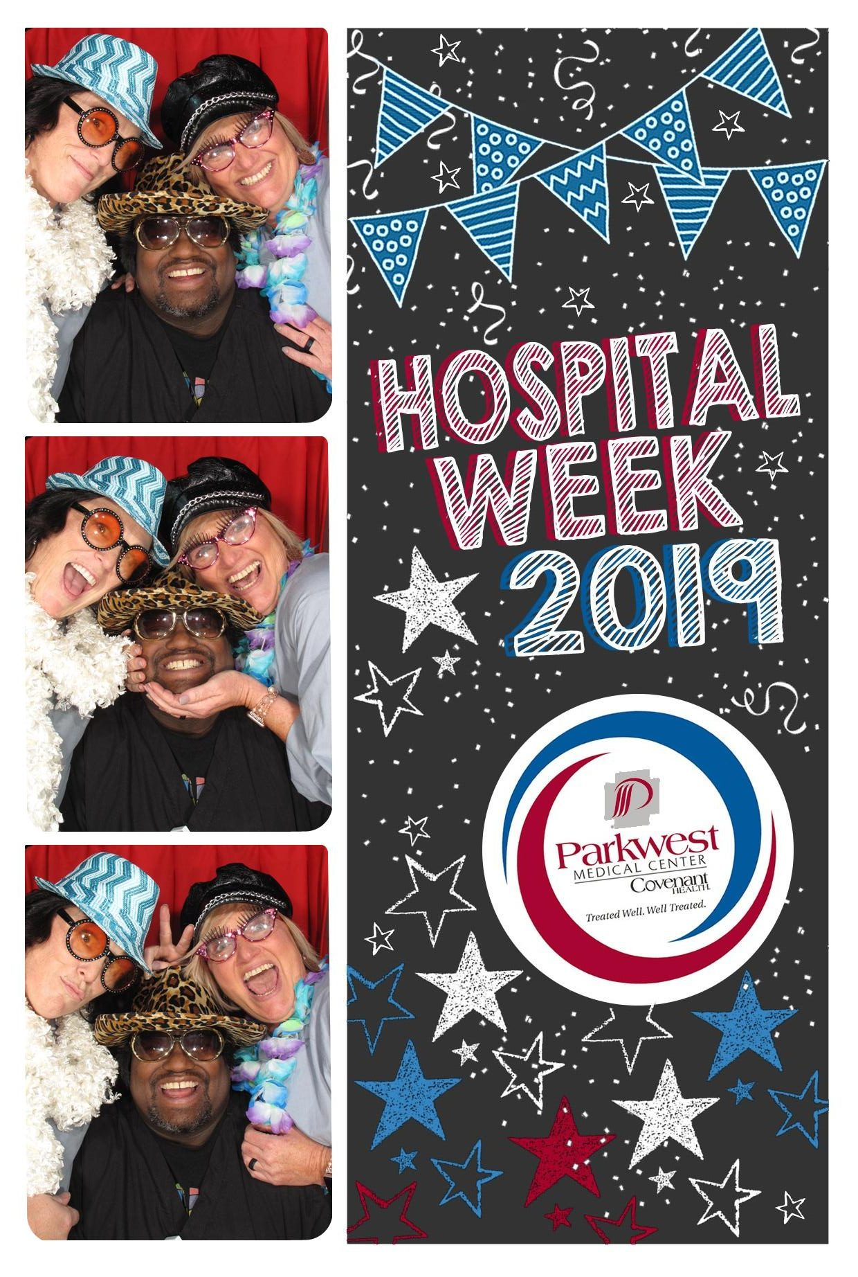 Photo booth with surgical team members