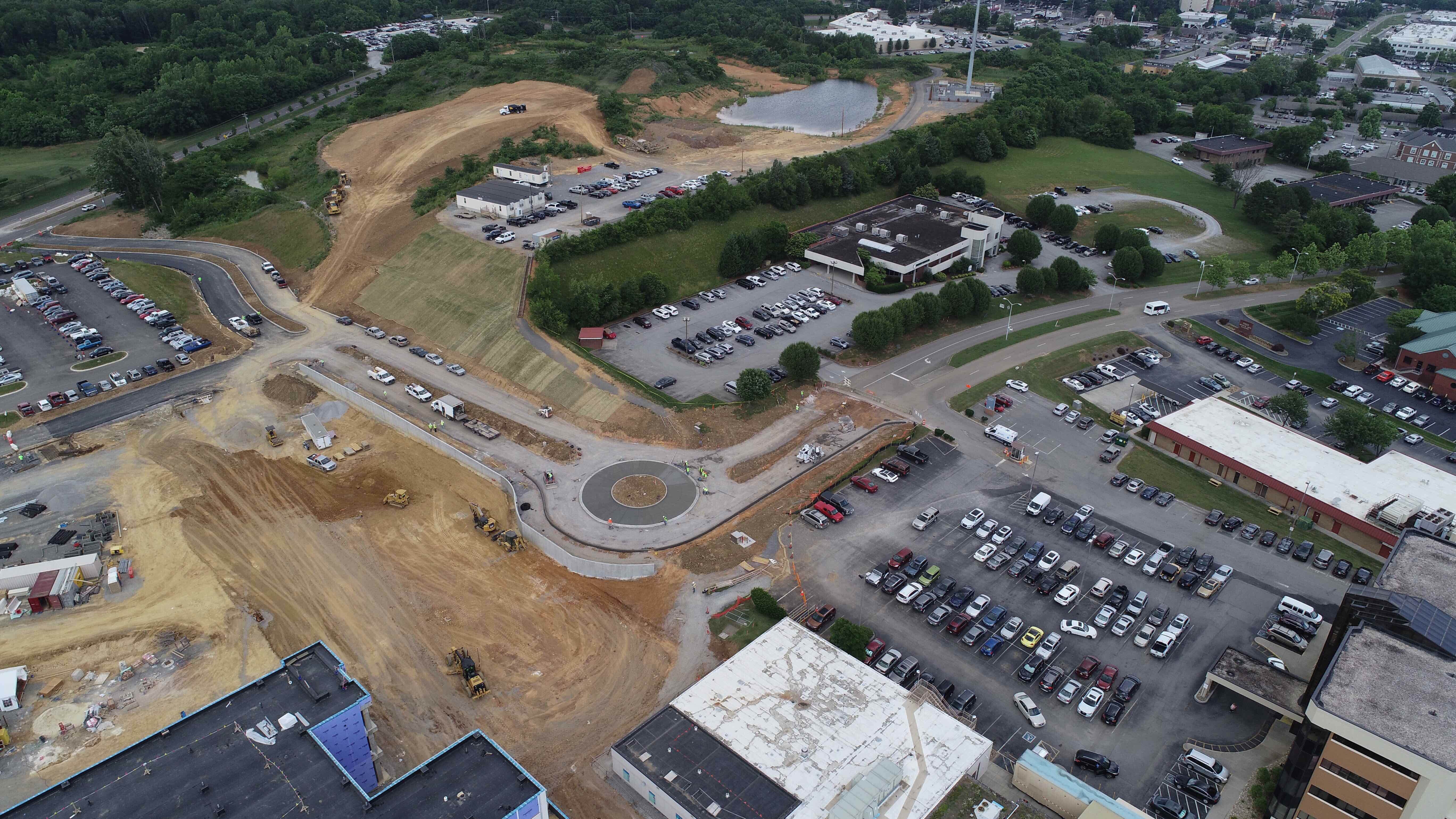 New roundabout aerial view.