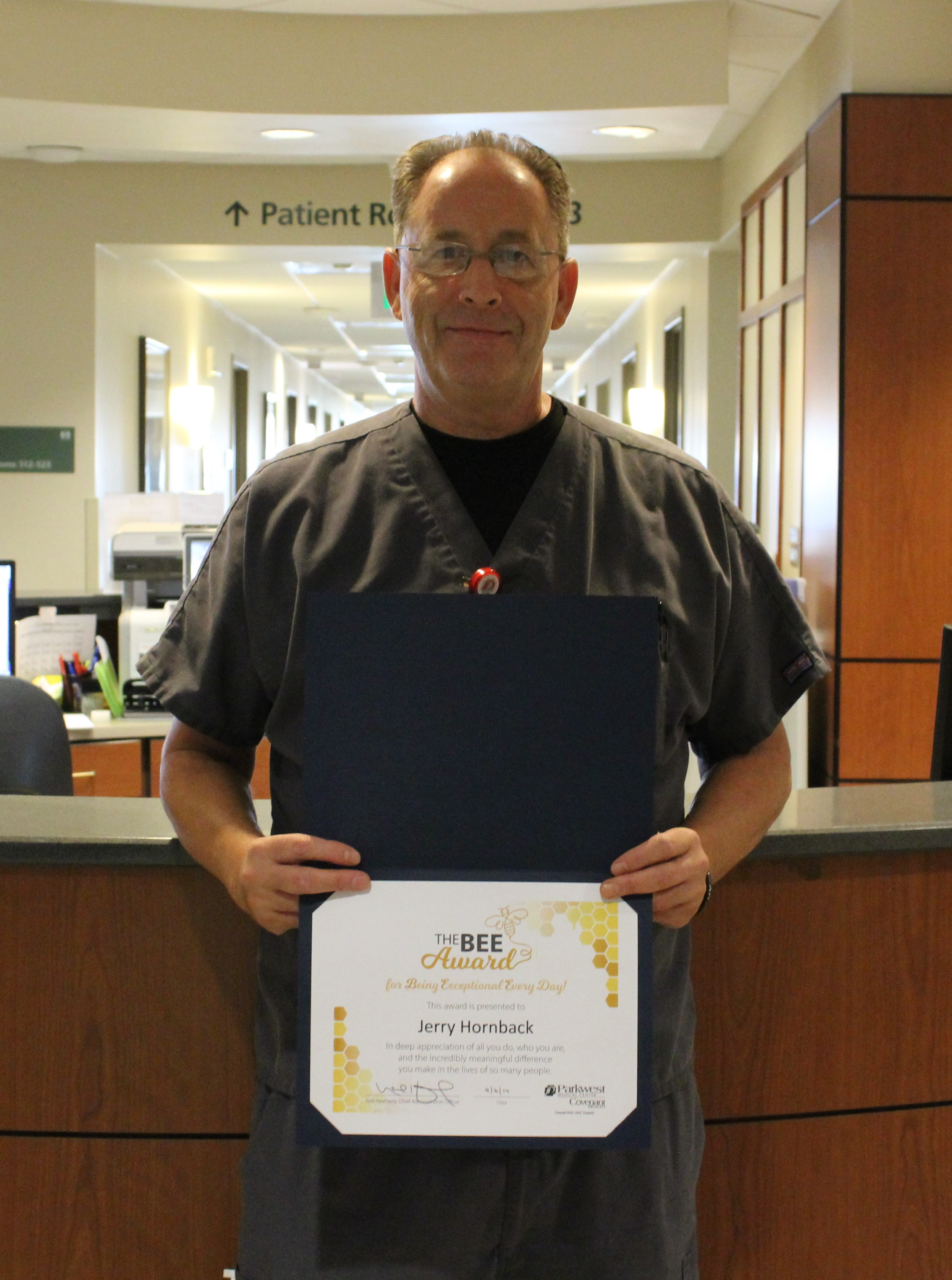 Jerry with BEE Certificate