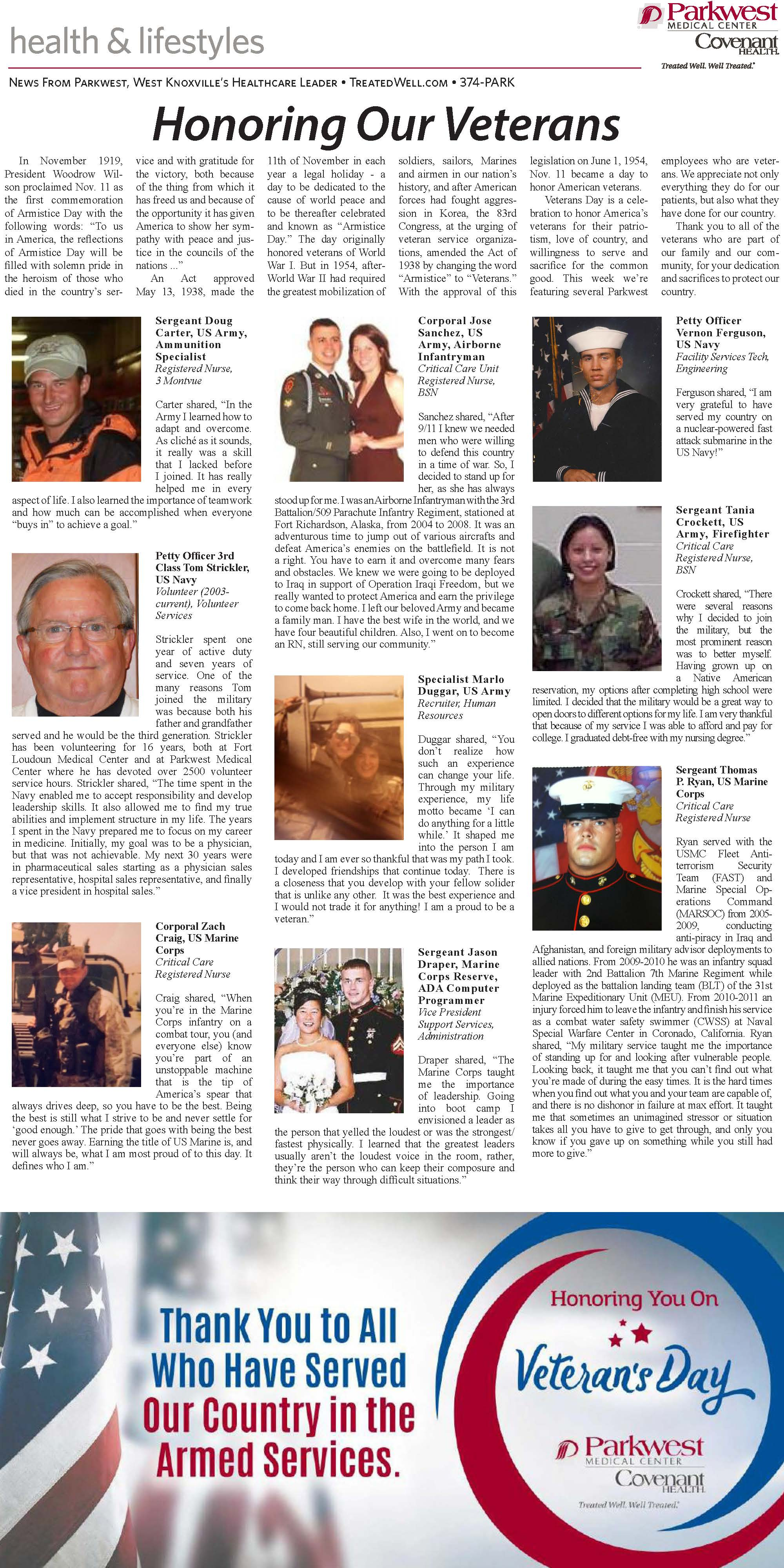 Full page view of Veteran's news edition.