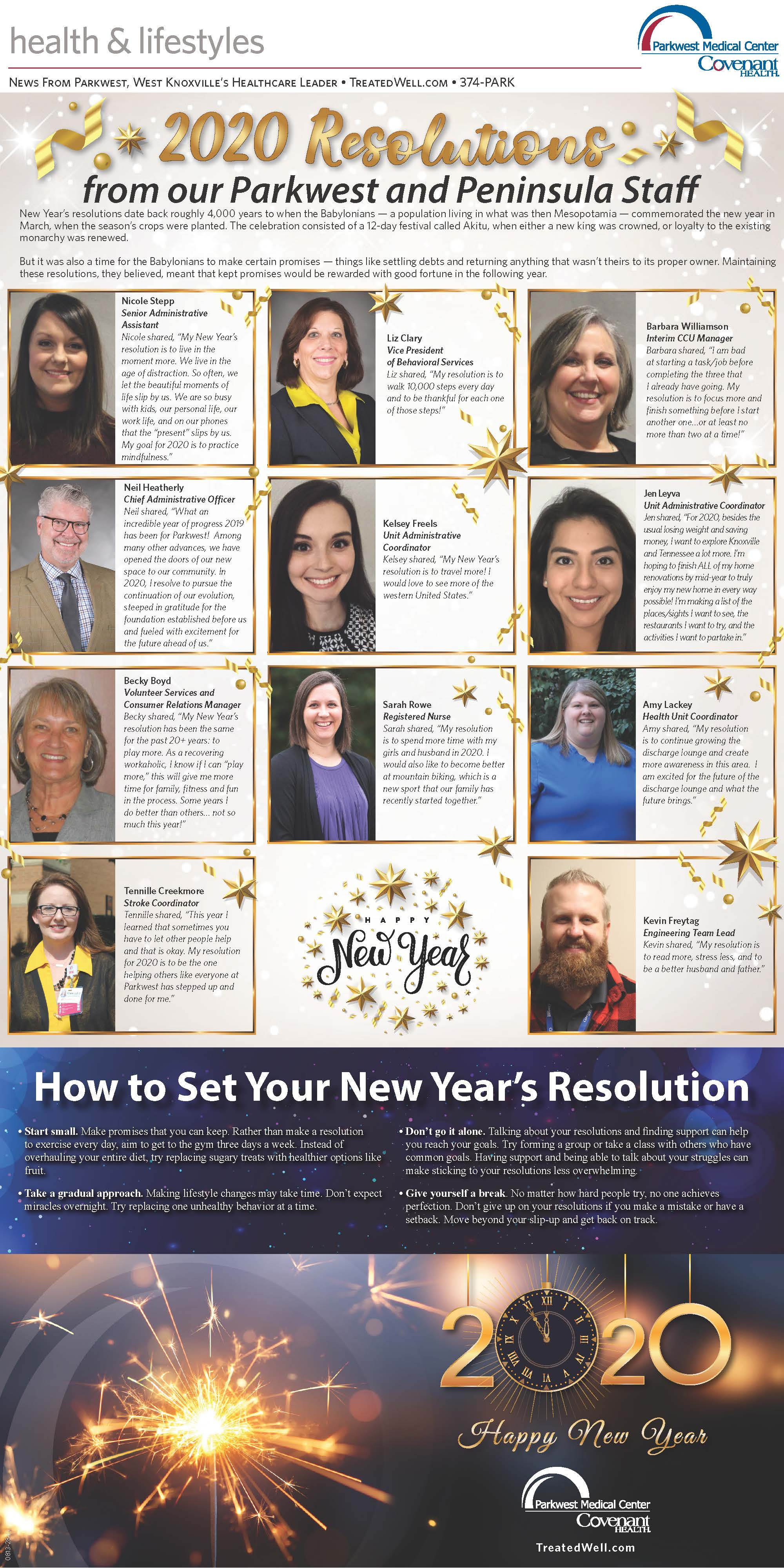 screenshot of shopper news resolutions