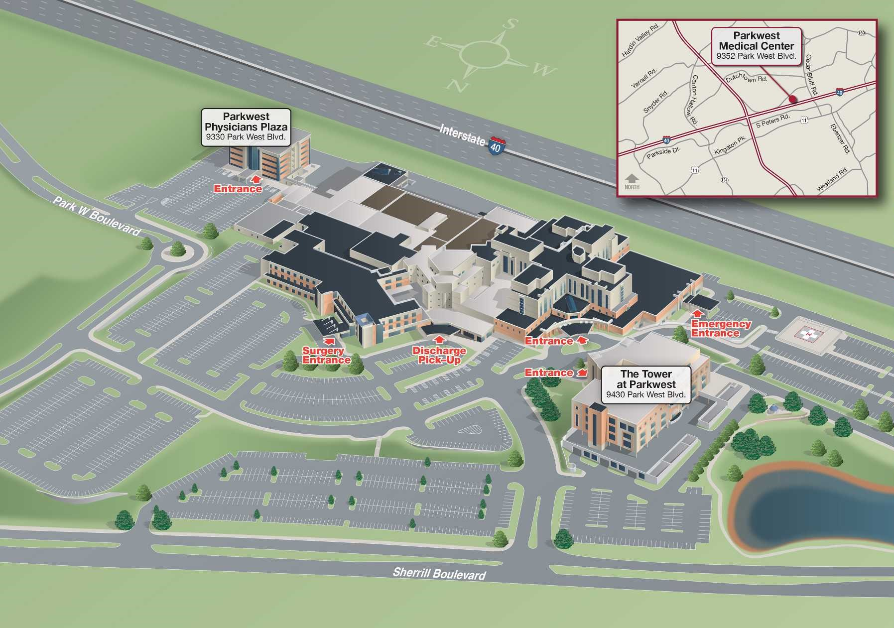 New Parkwest Campus map
