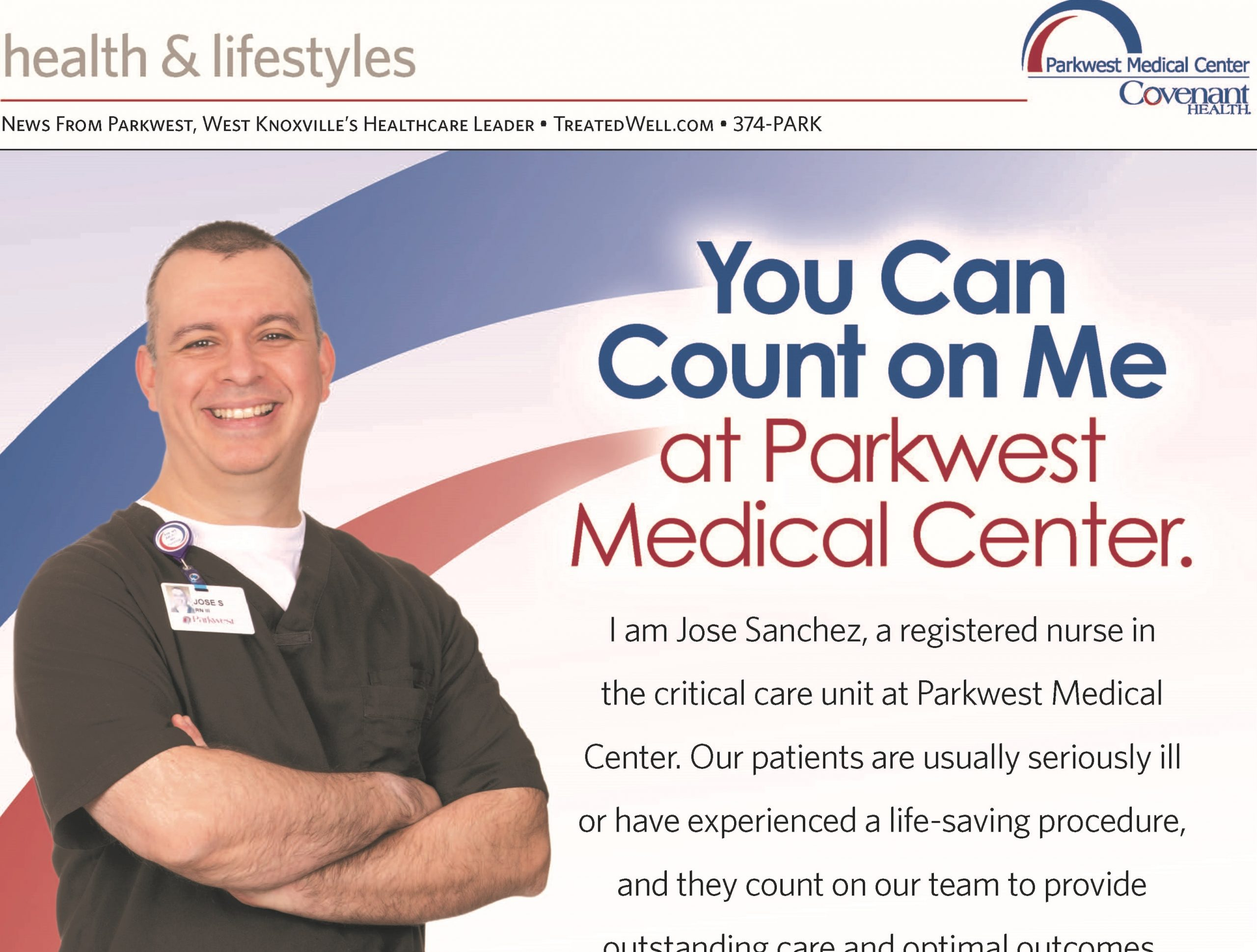 You Can Count on Jose Sanchez at Parkwest Medical Center