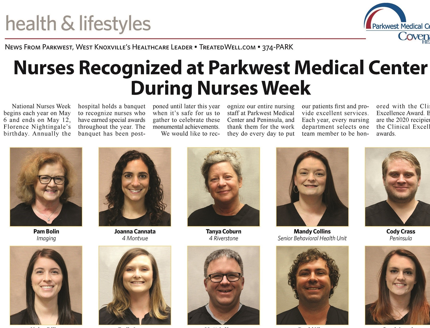 Nurses Recognized for Clinical Excellence