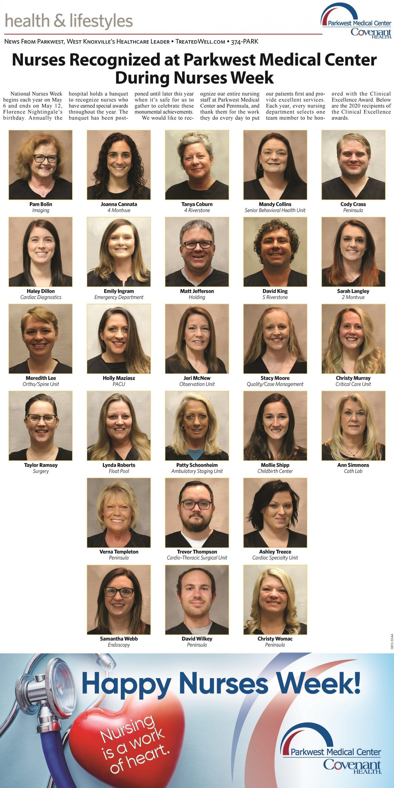 Headshots of Clinical excellence winners