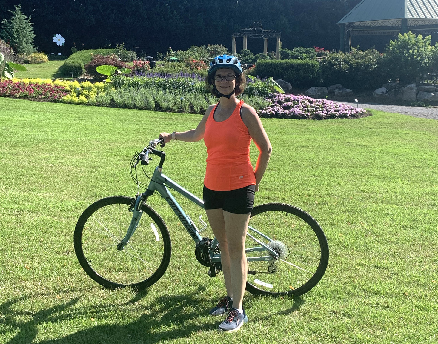 Julia Wood pictured with bike