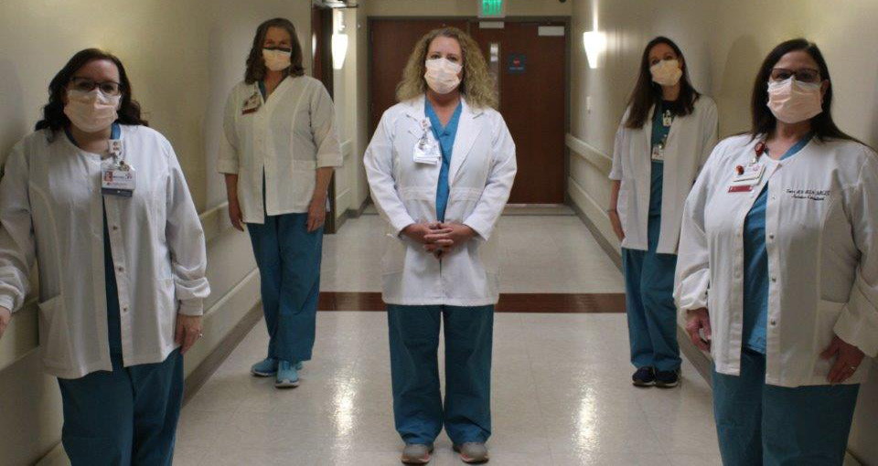 lactation consultants in lab coats