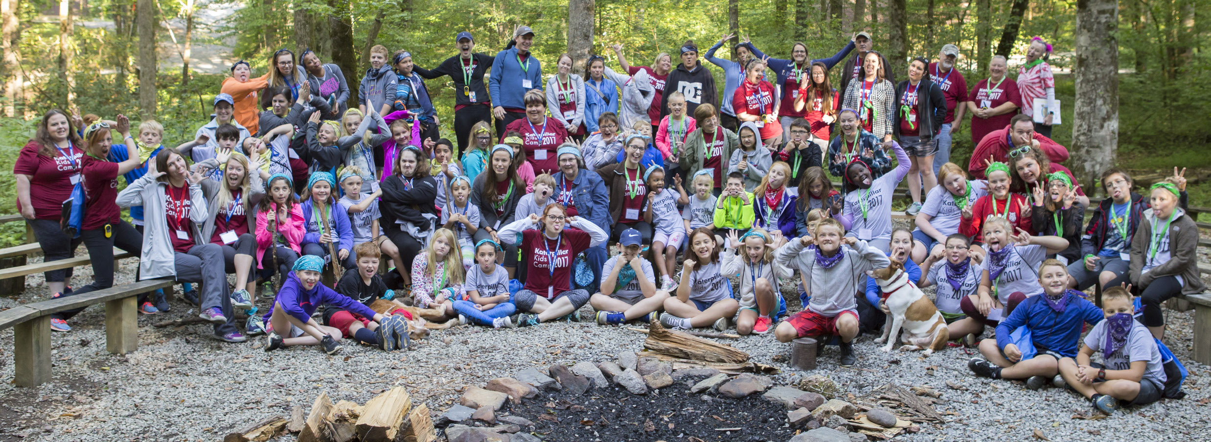 A past group of campers.