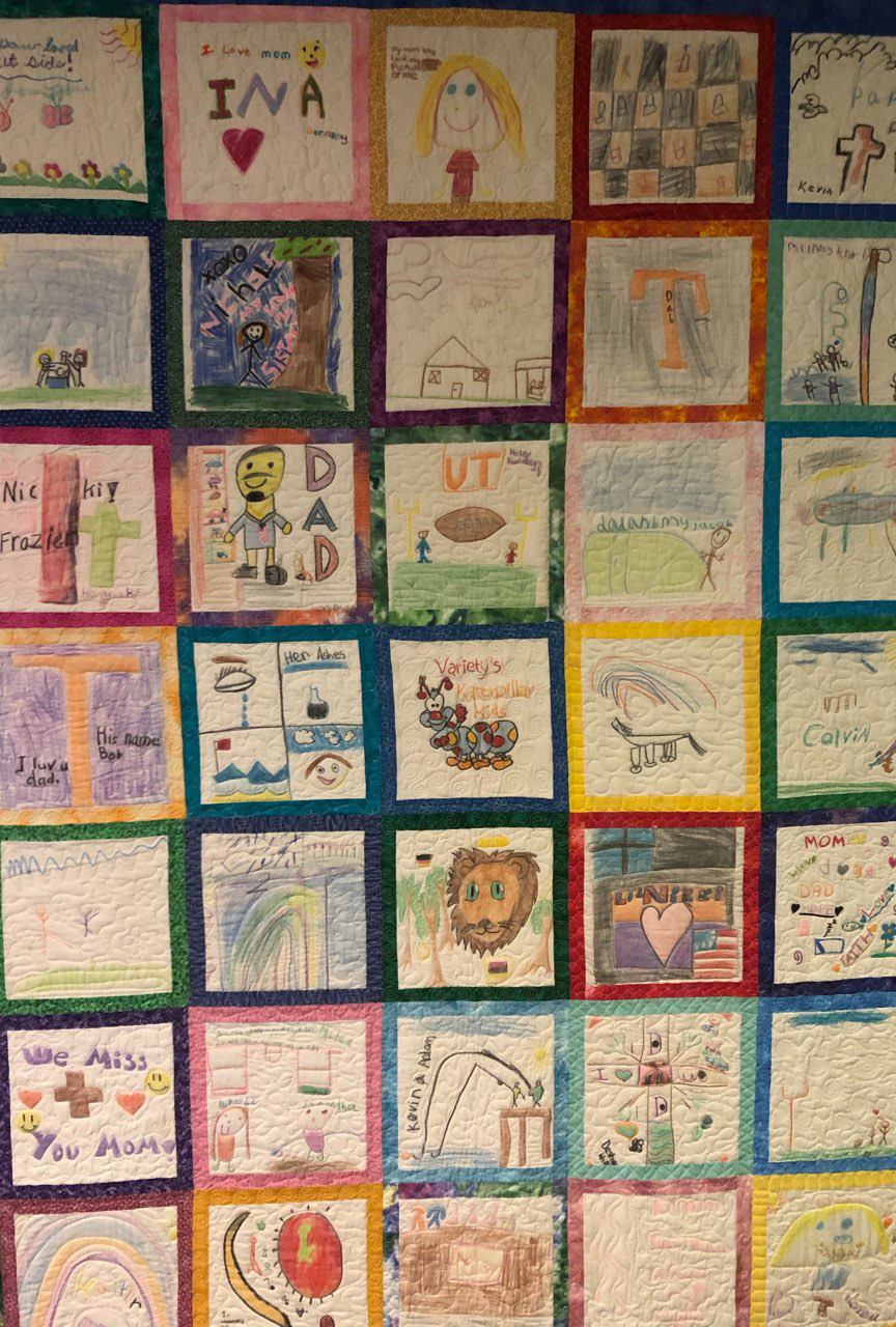 Past quilt made by campers.