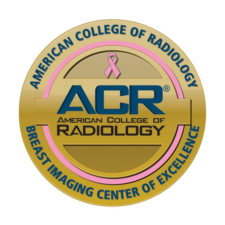 Gold seal of excellence from ACR.